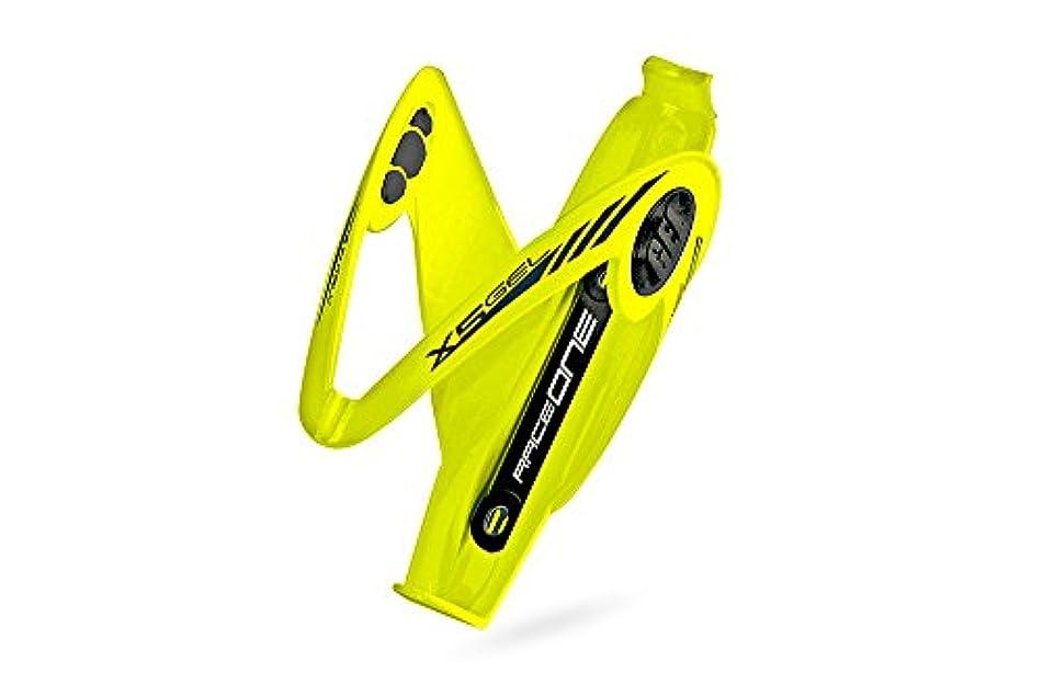 シエスタ減少可能Raceone.it - Mod. X5ジェル 自転車 ウォーターボトルケージ レース自転車ボトルホルダー レース/MTB/砂利/トレッキングバイク 光沢仕上げ。 GELシステムによる防振。 カラー:イエローFL、100%イタリア製。