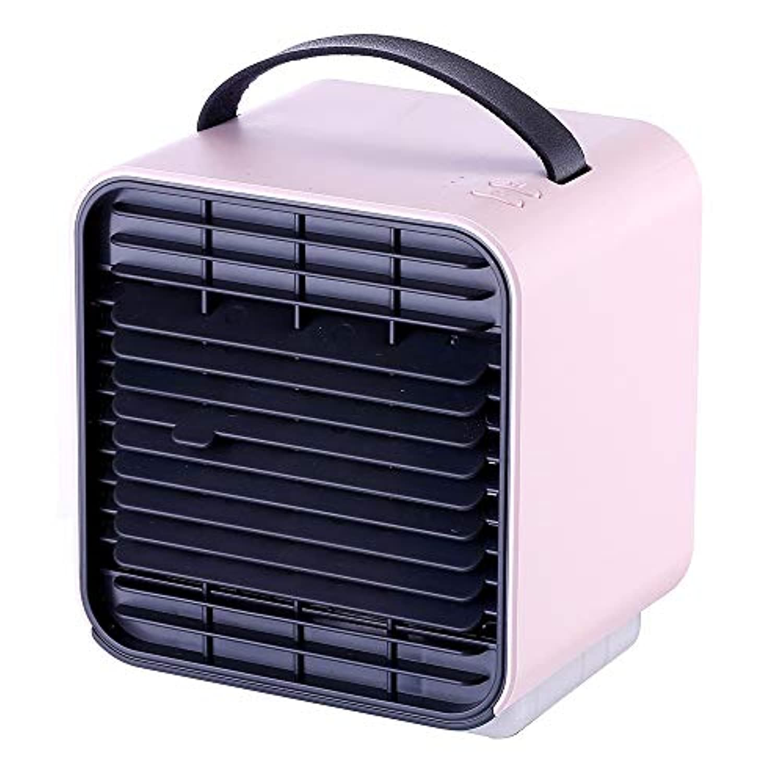 ZZXIA-ポータブルエアコン 小型冷凍エアコンファン携帯usbマイナスイオンミニ冷却ファンクーラー寮家庭用,粉