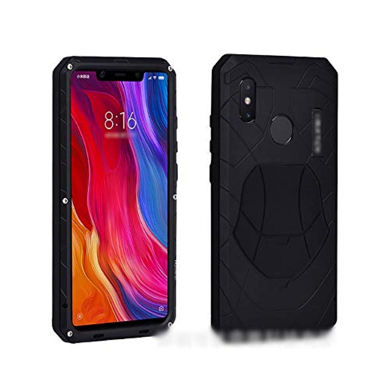 ブレーキ聖職者正確にTonglilili Xiaomi Max3、mix2s、mix2、max、2,8用の新しいメタル電話ケース3保護スリーブ飛散防止シェル (Color : 黒, Edition : 2)