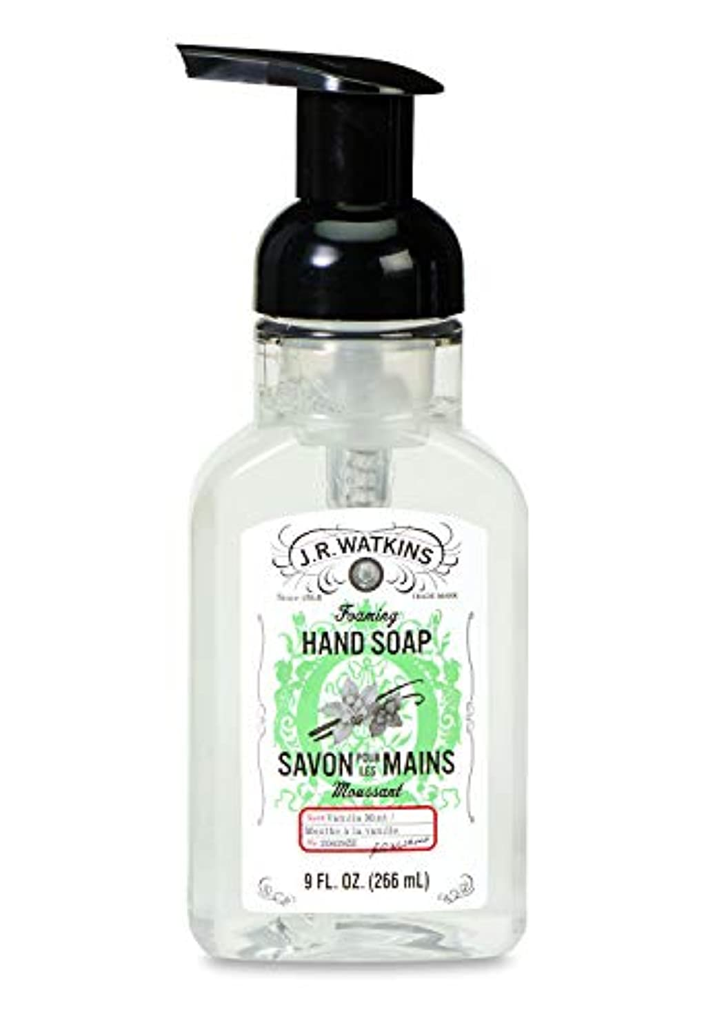 緊張実業家姉妹J.R.Watkins/フォーミングハンドソープ バニラミント 266ml リラックス 石鹸 泡石鹸 植物由来 洗浄力