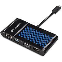 Cable Matters USB C to 4K HDMI・VGA・USB 3.0・LAN変換アダプタ 【4 in 1】ドッキングステーション USB Type C ハブ Thunderbolt 3 Port対応
