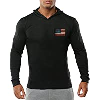 Darin Men's Fitness Sweater Cotton Hooded Long-sleeved Sweater Sports Style Hedging Sweater