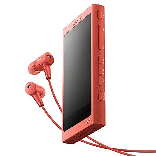 ソニー SONY ウォークマン Aシリーズ 16GB NW-A45HN : Bluetooth/microSD/ハイレゾ対応 最大39時間連続再生 ノイズキャンセリングイヤホン付属 2017年モデル トワイライトレッド NW-A45HN R