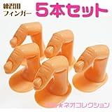 練習用プラスチック製指の模型 ネイルアートプラスチックフィンガー5本セット ネイルチップ練習用ハンド