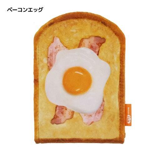 まるでパンみたいな[手鏡]折りたたみスタンドミラー/ハニートースト ベーコンエッグ いちごホイップ 【ベーコンエッグ 】