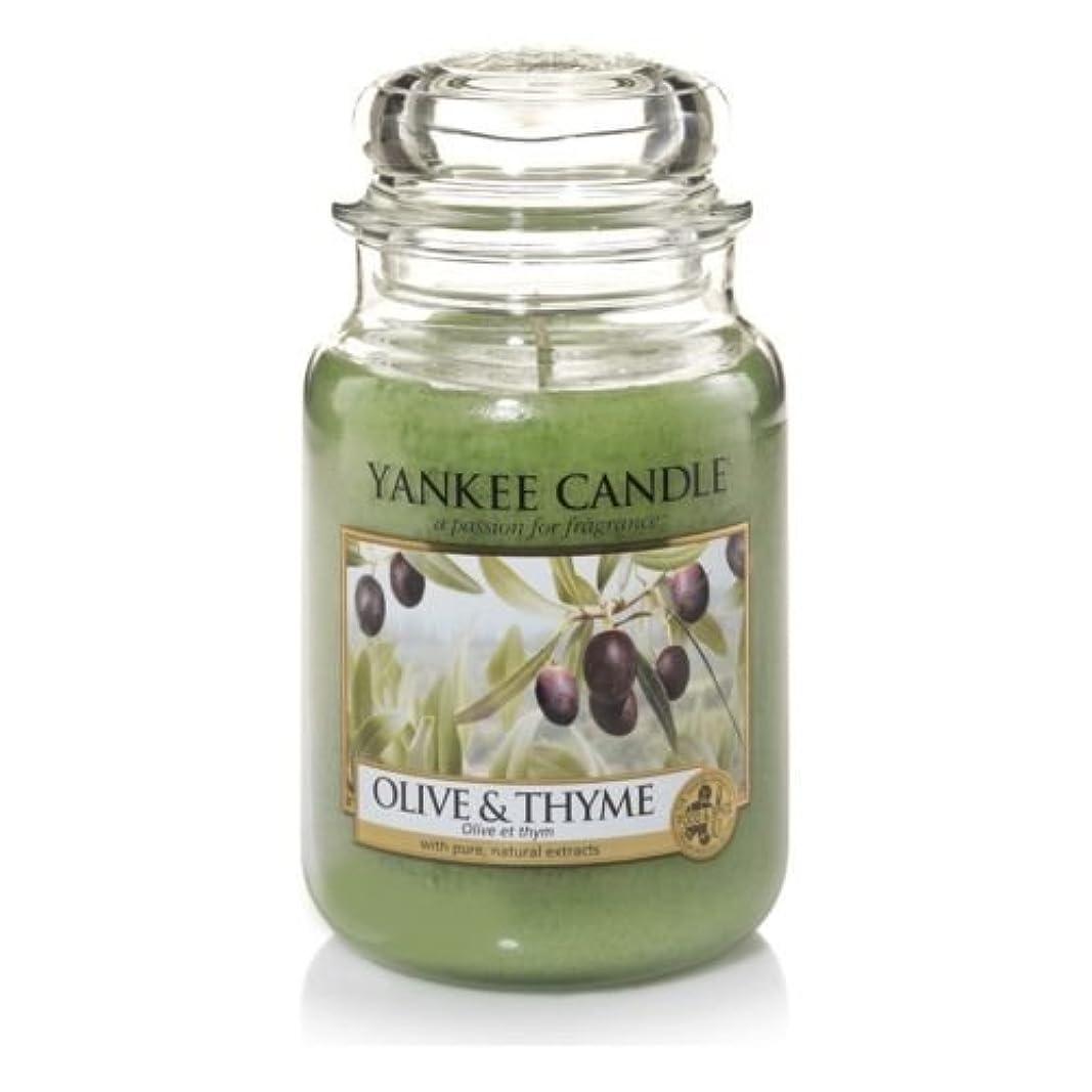 表示火肺炎オリーブ& Thyme Yankee Candle Large 22oz Jar