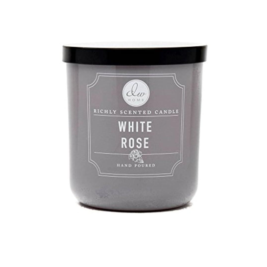 ホワイトローズ豊かな香りCandle Small Single Wick Hand PouredからDWホーム4オンス