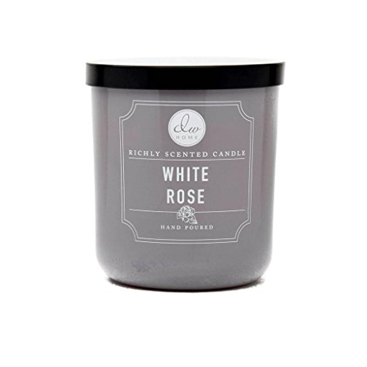 勧告段階根拠ホワイトローズ豊かな香りCandle Small Single Wick Hand PouredからDWホーム4オンス