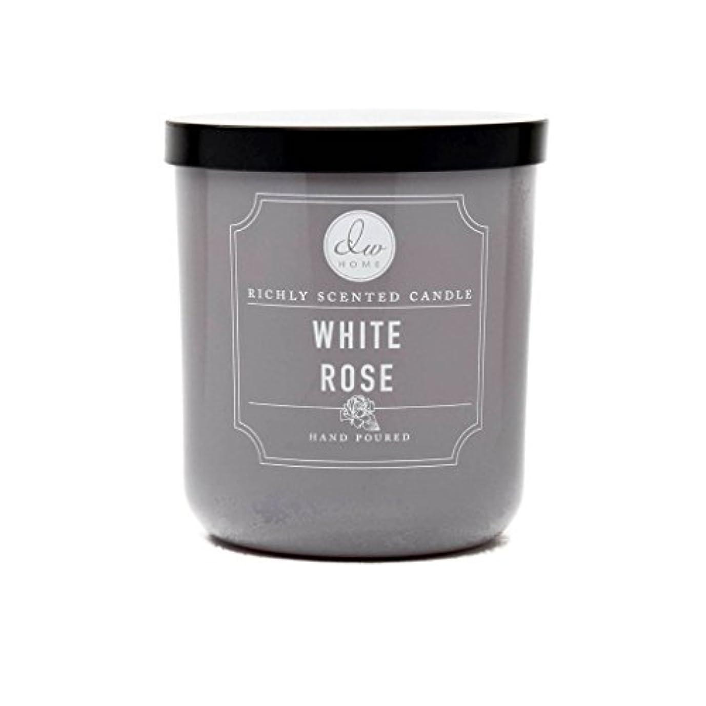 個人的な利用可能運命的なホワイトローズ豊かな香りCandle Small Single Wick Hand PouredからDWホーム4オンス