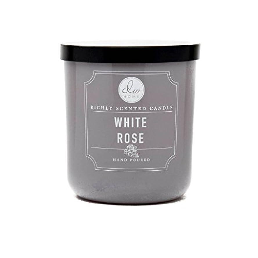 ぴったり親密な見分けるホワイトローズ豊かな香りCandle Small Single Wick Hand PouredからDWホーム4オンス
