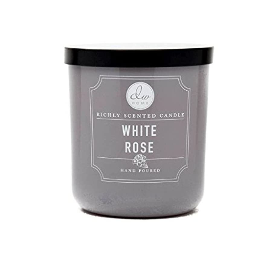 取り消す主張無関心ホワイトローズ豊かな香りCandle Small Single Wick Hand PouredからDWホーム4オンス