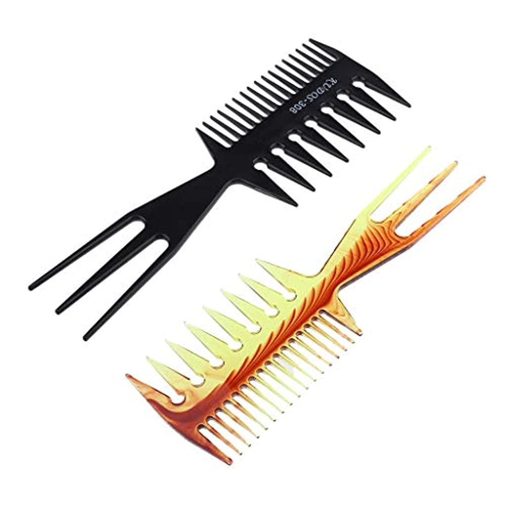 舌失速リーフレットDYNWAVE ヘアダイブラシ 毛染めコーム 髪染め用ヘアコーム サロン 美髪師用 DIY髪染め用 2個セット