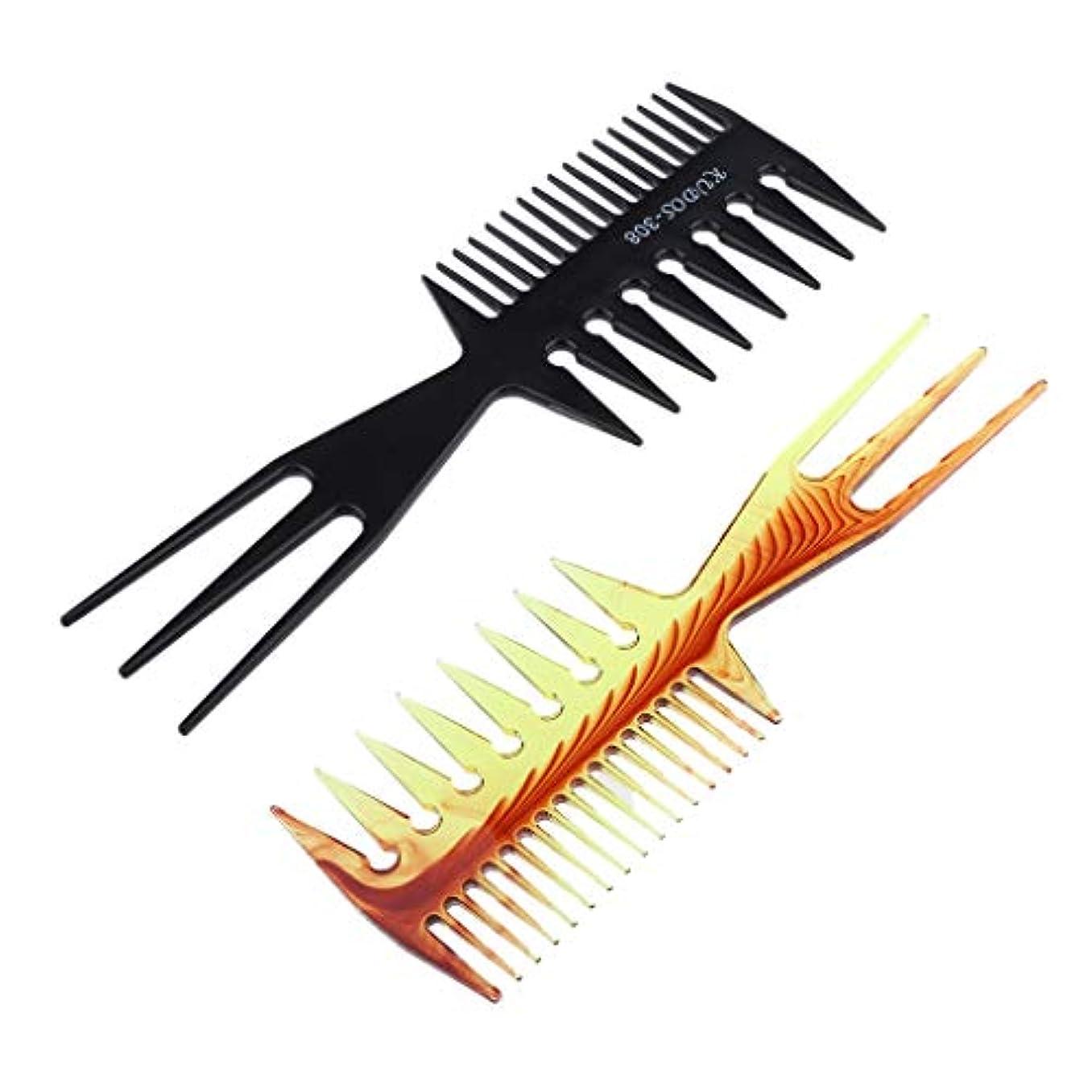 持続的操作無数のヘアダイブラシ 毛染めコーム 髪染め用ヘアコーム サロン 美髪師用 DIY髪染め用 2個セット