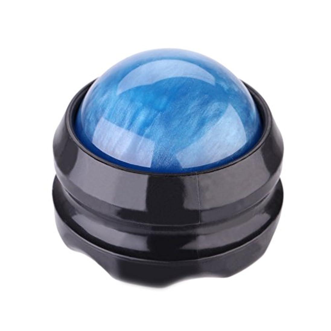 楽しむ資料もろいTrueland マッサージ ボール 360度回転 背中 首 腰 筋膜リリース 健康器具 (青)