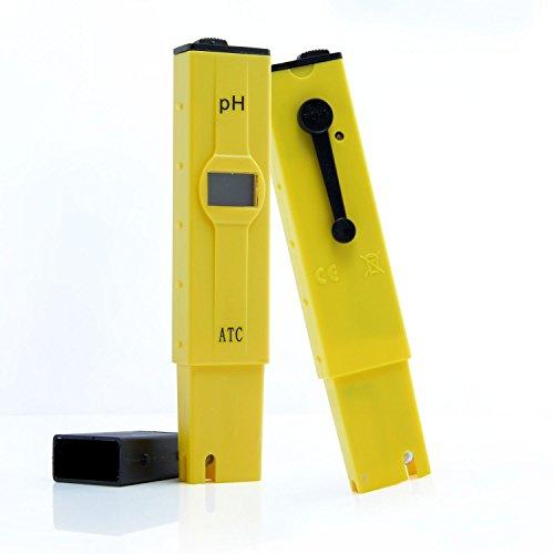 Aukru 高精度 デジタル PH計 ペーハー測定器 熱帯魚飼育 水質検査用 ATC温度補正機能 バックライト 校正剤 付き