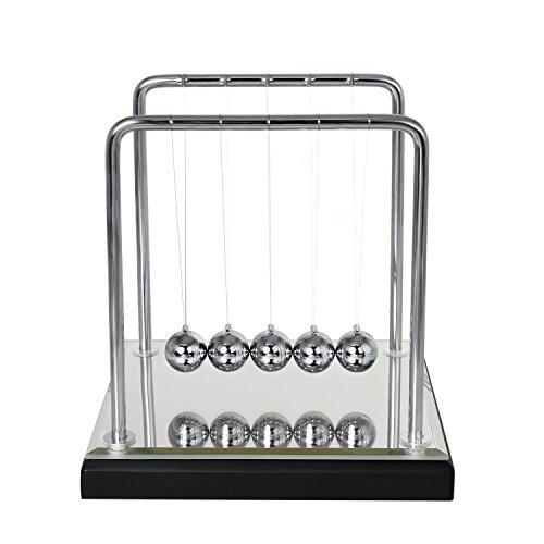 BOJIN ニュートンのゆりかご 鏡 おしゃれ インテリア 物理 プレゼント おもちゃ カチカチ玉 ニュートン クレードル バランス ボール