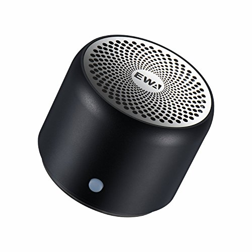 【超小型/大音量】EWA A106 ポータブル ミニ ワイヤレス Bluetooth スピーカー 【コンパクト/強化された低音 / メーカー1年保証付き / 多国語取扱説明書】 (ブラック)