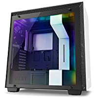 NZXT H700i ミドルタワー RGB LED 制御 HUE+ & ファン制御 GRID+V3 機能搭載 [ Matte WHITE ] CA-H700W-WB