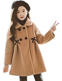 cd241906fb250 Yunping ガールズ ジャケット ラシャコート トレンチコート 秋冬 女児 厚手 暖かい 子供服 女の子 キッズ アウター