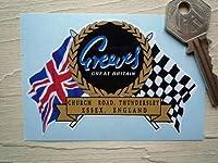 Greeves Flag & Scroll Sticker ロゴ フラッグ ステッカー シール デカール 95mm x 65mm [並行輸入品]