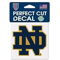 "Notre Dame Fighting Irish ""ND"" Logo 10cm x 10cm Die Cut Decal"
