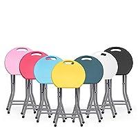 YongFeng 折りたたみスツール、ポータブルプラスチック家庭用小さなベンチ屋外釣りスツール、ホーム高速折りたたみキャンプスツールラウンドスツール折りたたみ椅子、から選択するさまざまな色 折りたたみチェア (Color : Black, Size : L)
