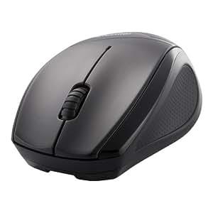 iBUFFALO 無線(2.4GHz)BlueLEDマウス 3ボタンタイプ ブラック BSMBW08BK