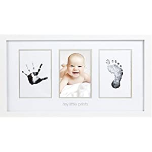 ペアヘッド(pearhead) ベビー フォトフレーム (手形 足形 キット) 手足を汚さない 写真立て ホワイト NZPH13032