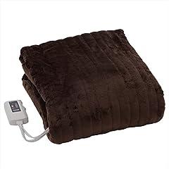 山善 ふわふわもこもこ 電気掛・敷毛布(188×130cm) 表面フランネル・裏面プードルタッチ仕上げ 室温センサー付 YMK-F43P(T)