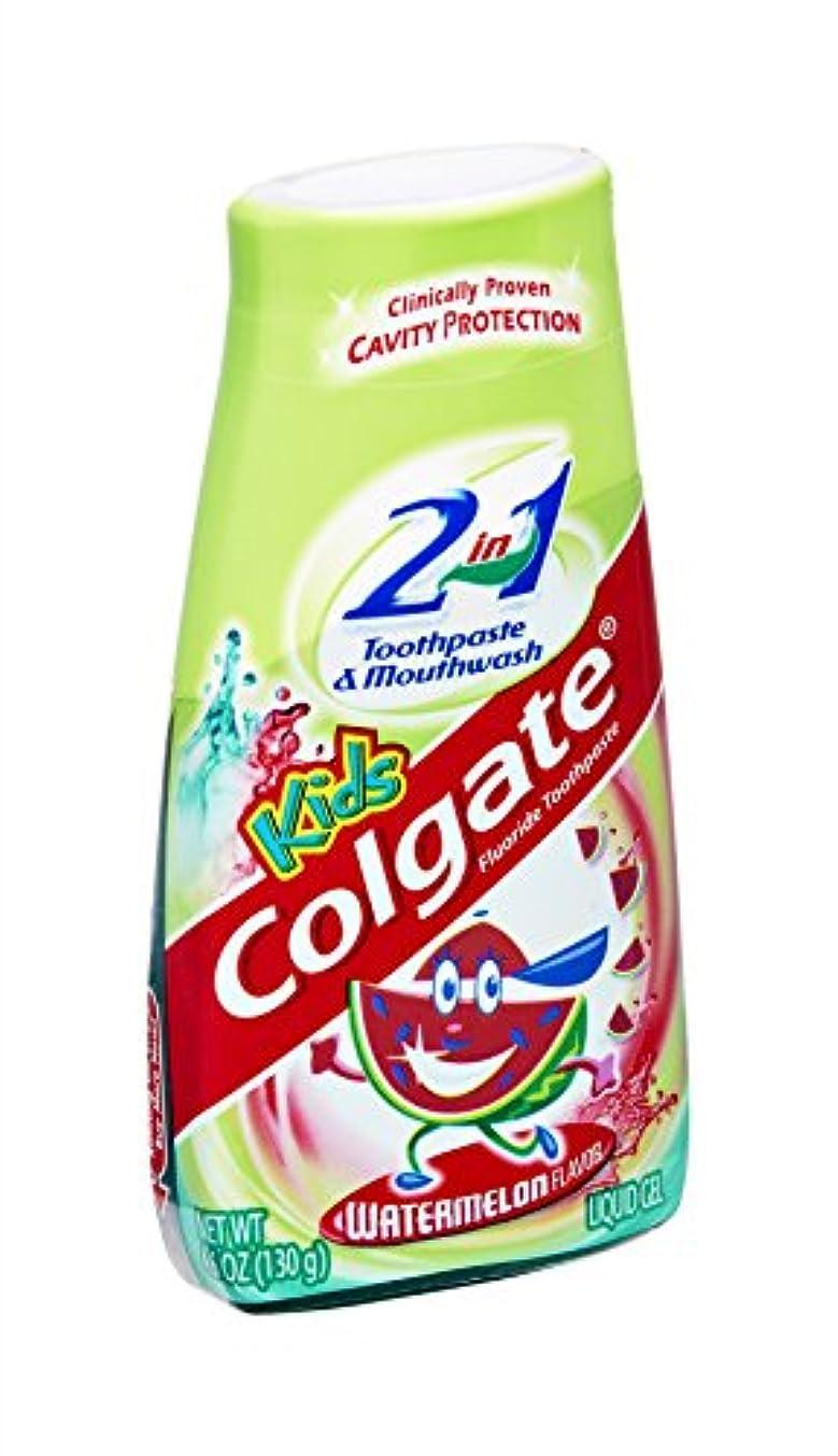 超高層ビル脊椎かるColgate キッズ2-IN-1歯磨き粉マウスウォッシュスイカ4.60オズ 1パック