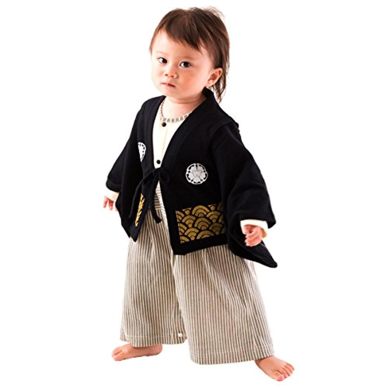 FUN fun (ファンファン) 袴ロンパース 男の子 赤ちゃん 紋付 80サイズ