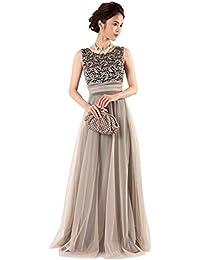 f8c0db6471ce8 Amazon.co.jp  ゴールド - パーティードレス   ワンピース・ドレス  服 ...