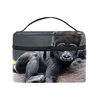 便携式モンキーベイビーゴリラヘア メイクボックス 收納抜群 大容量 可愛い 化粧バッグ 旅行