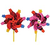 【和玩具】 ホイル組み上がり風車 20cm (30個)  / お楽しみグッズ(紙風船)付きセット