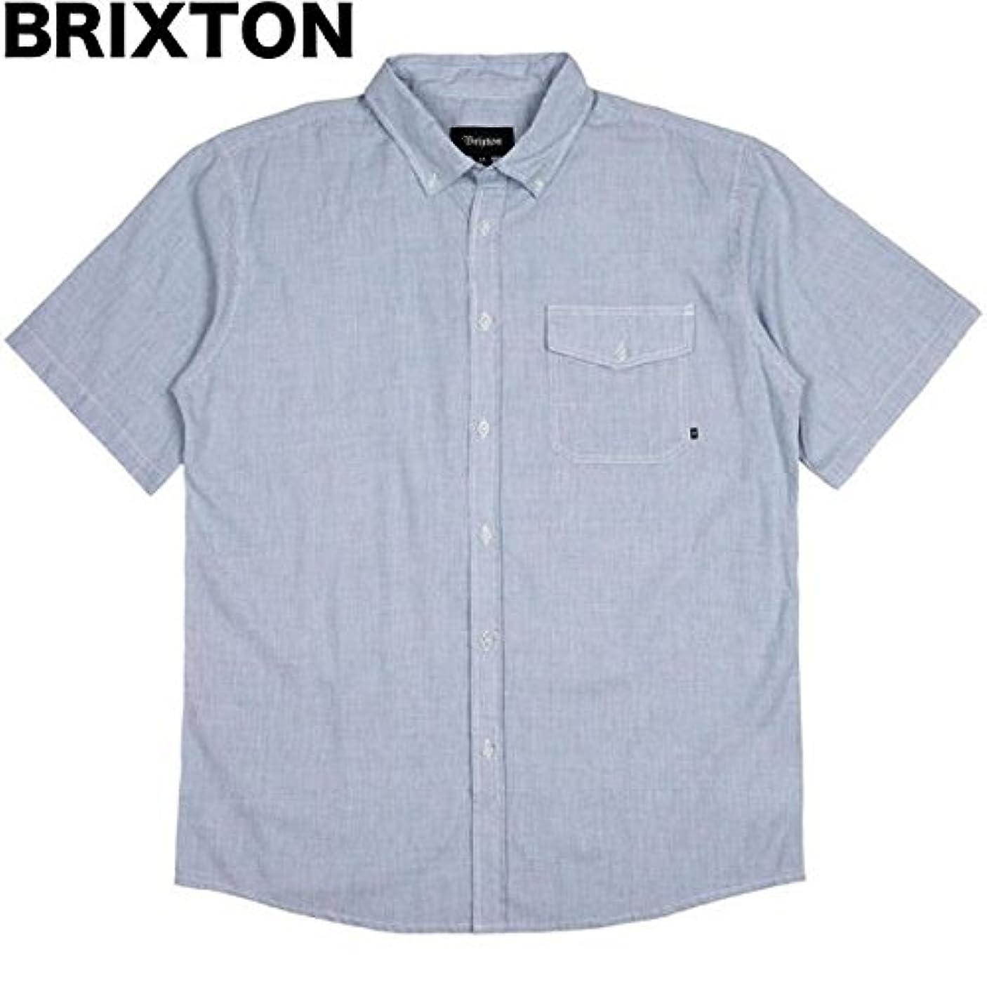 反対した相互接続歩道Brixton Howl S/S Woven Shirt Light Blue Stripe M シャツ 並行輸入品