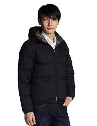 Polyester Wool Down Parka 1225-199-6004: Navy