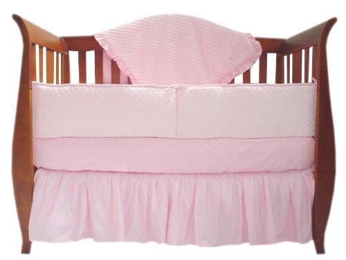 American Baby Company Heavenly Soft Minky Dot Crib Bumper, Pink Puff