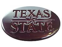 Texas State University Bobcatsメタルオートエンブレム楕円型にマルーントリム)