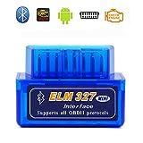 ELM327 OBD2スキャンツール BLUETOOTH V1.5 自動車スキャナー bluetooth仕様 日本語マニュアル 青色モデル *iPhoneは対応できません