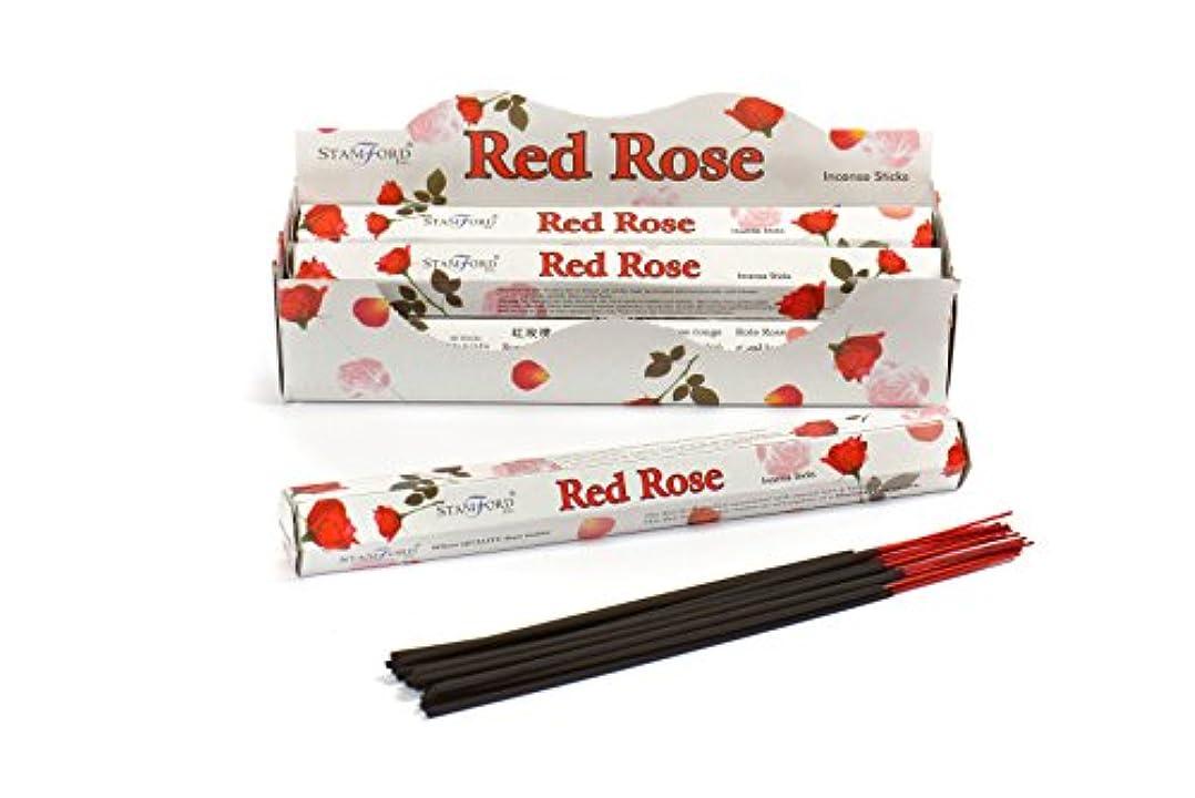借りる神社フィルタStamford Red Rose Incense, 20 Sticks x 6 Packs by Stamford