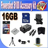 PowerShot S100 Accessory Saver Bundle (16GB Memory Card + Extended Life Battery + USB Card Reader + Deluxe Camera Case + Accessory Saver Bundle)