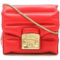 [フルラ] FURLA メトロポリス オキシゲン ショルダーバッグ チェーンショルダーバッグ PVC レッド 赤 ゴールド金具