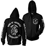 Officially Licensed Merchandise SOA Full CA Backprint Zip Hood