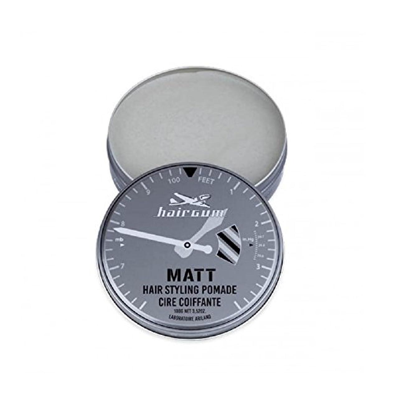 口ひげ疲労宣言するhairgum(ヘアガム) Matt Pomade 100g ヘアガム マット 油性 ポマード グリース