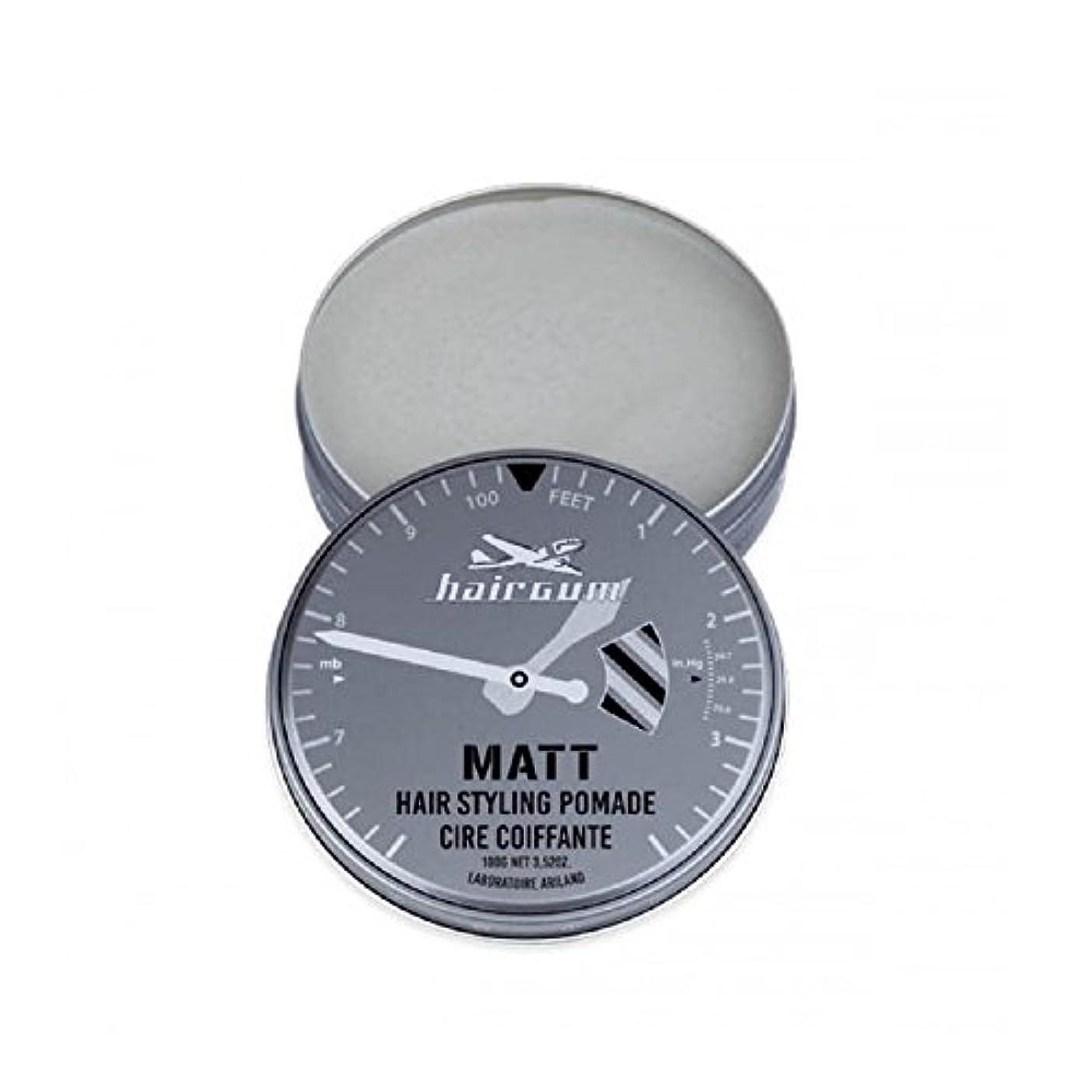 起きる克服する是正hairgum(ヘアガム) Matt Pomade 100g ヘアガム マット 油性 ポマード グリース