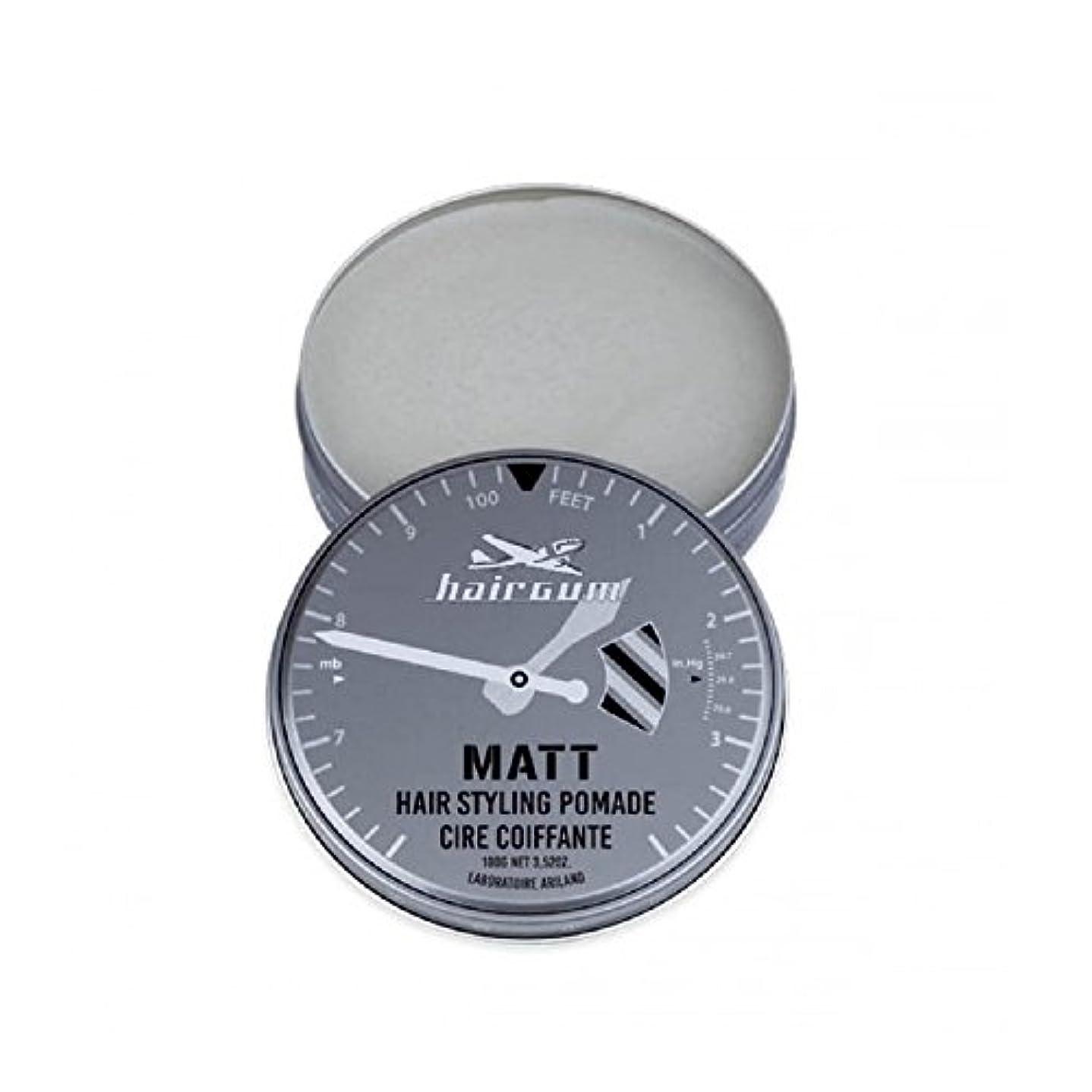 歯車呼び起こす返還hairgum(ヘアガム) Matt Pomade 100g ヘアガム マット 油性 ポマード グリース
