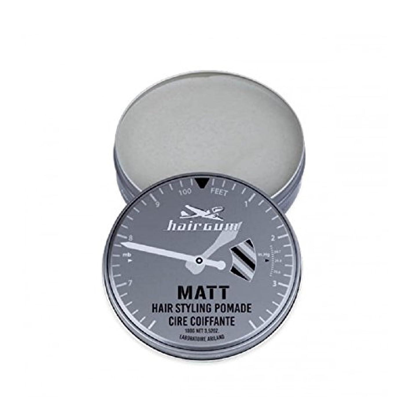 サイクル懐疑論割り当てるhairgum(ヘアガム) Matt Pomade 100g ヘアガム マット 油性 ポマード グリース