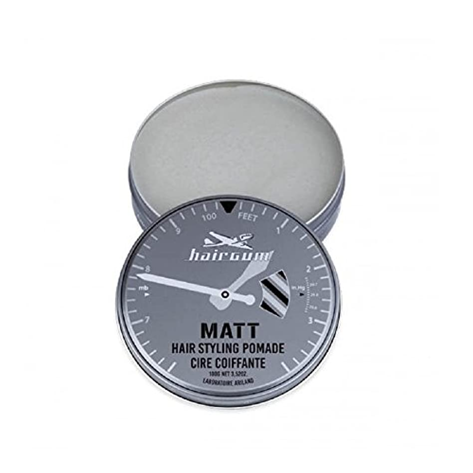 影響力のある実際現在hairgum(ヘアガム) Matt Pomade 100g ヘアガム マット 油性 ポマード グリース