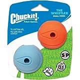 "Chuckit! Whistler Ball Small 2"" - 2pk, Assorted Orange & Blue"