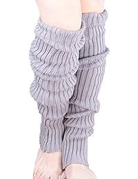 レッグウォーマー ロング もこもこ リブ編み 60cm 長い 裏起毛 10カラー 「y.marguerite」
